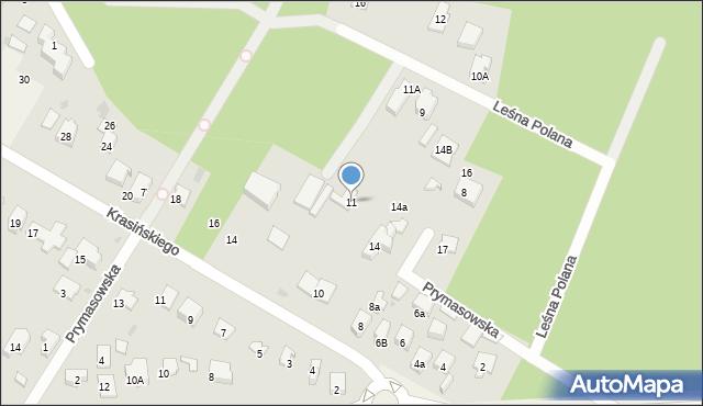 Izabelin C, Leśna Polana, 11, mapa Izabelin C