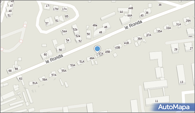 Katowice, le Ronda Henryka, gen., 47B, mapa Katowic