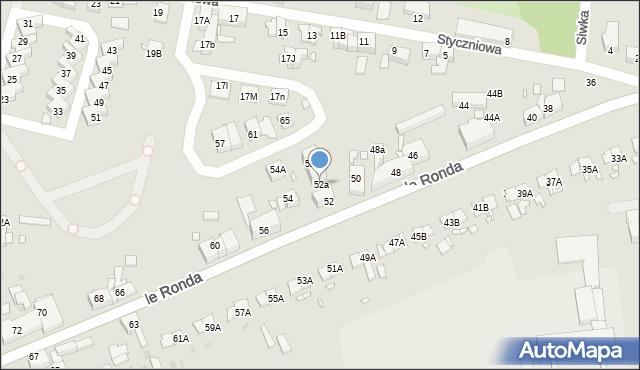 Katowice, le Ronda Henryka, gen., 52a, mapa Katowic