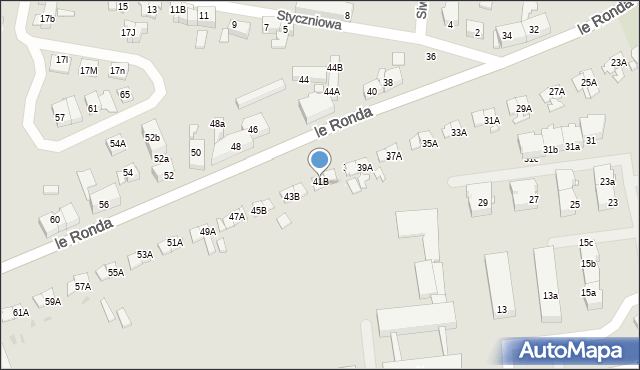 Katowice, Le Ronda Henryka, 41b, mapa Katowic