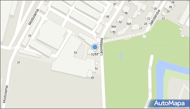 Warszawa, Leonidasa, 51/53, mapa Warszawy