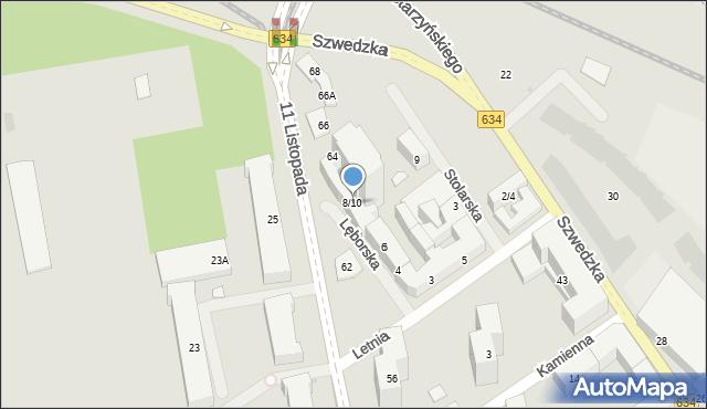 Warszawa, Lęborska, 8/10, mapa Warszawy