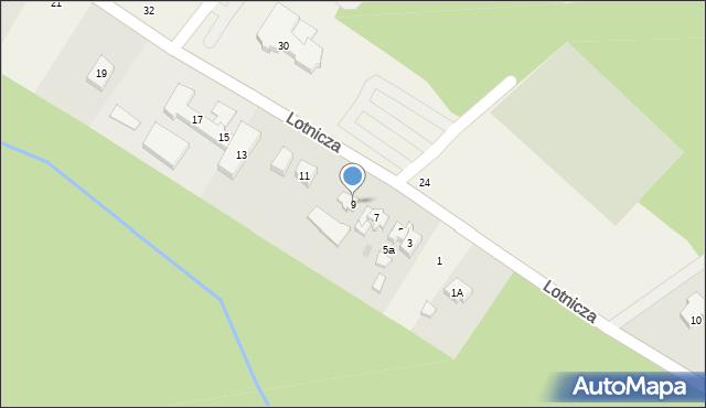 Banino, Lotnicza, 9, mapa Banino
