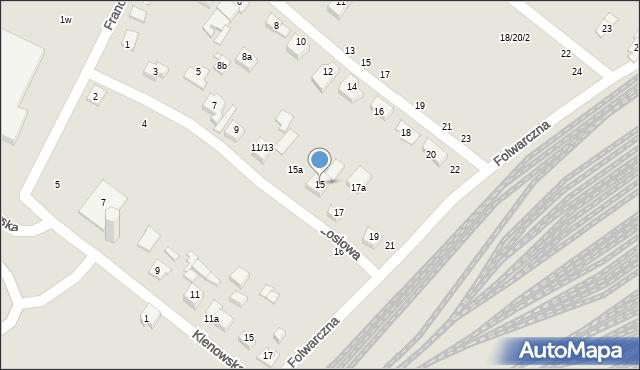Poznań, Łosiowa, 15, mapa Poznania