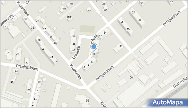 Racibórz, Lotnicza, 8, mapa Racibórz