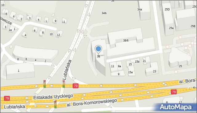 Kraków, Lublańska, 38, mapa Krakowa