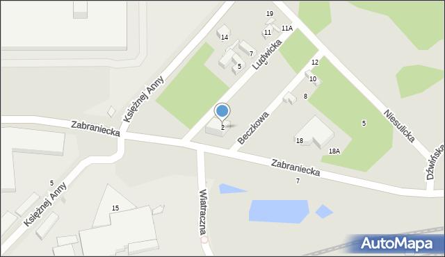 Warszawa, Ludwicka, 2, mapa Warszawy