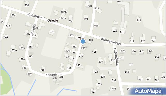 Mazańcowice, Mazańcowice, 298, mapa Mazańcowice