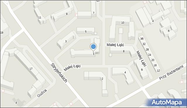Warszawa, Małej Łąki, 1, mapa Warszawy