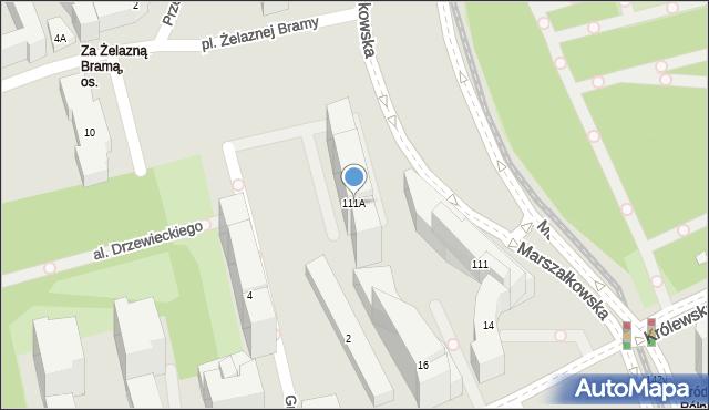 Warszawa, Marszałkowska, 111a, mapa Warszawy