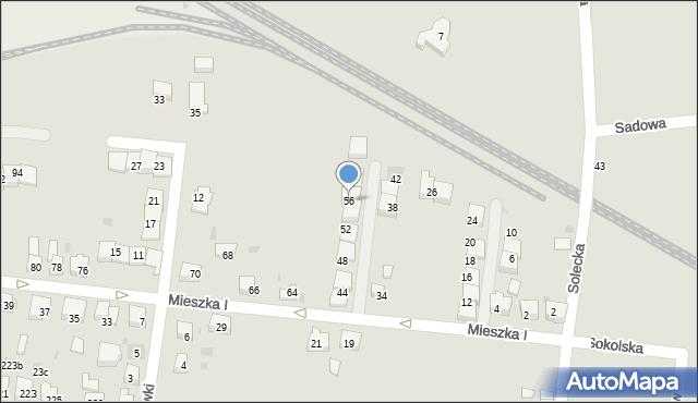 Bieruń, Mieszka I, 56, mapa Bieruń