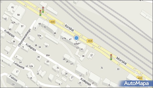 Gdynia, Morska, 43/47, mapa Gdyni