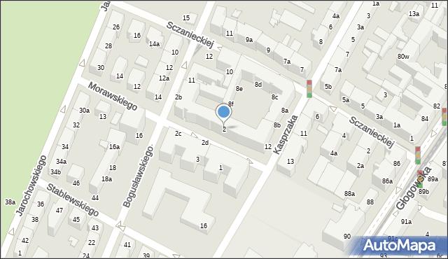 Poznań, Morawskiego Franciszka, 2, mapa Poznania