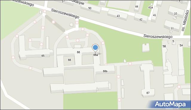 Kraków, Na Skarpie, os., 66a, mapa Krakowa