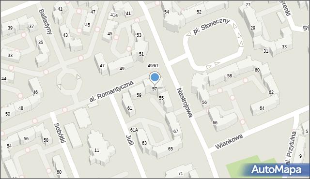 Łódź, Nastrojowa, 57, mapa Łodzi