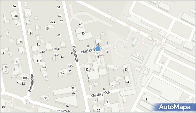 Warszawa, Nadziei, 5, mapa Warszawy
