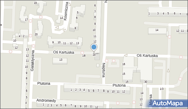 Legnica, Neptuna, 14, mapa Legnicy