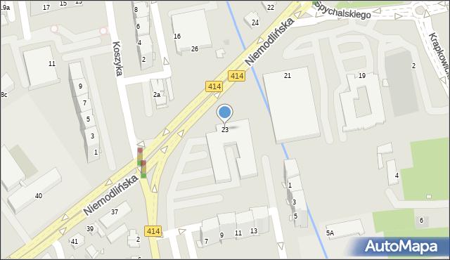 Opole, Niemodlińska, 23, mapa Opola