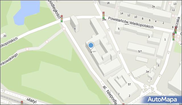 Poznań, Niepodległości, 4, mapa Poznania