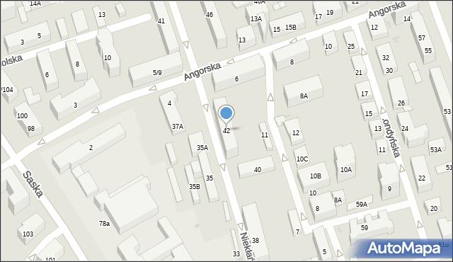Warszawa, Niekłańska, 42, mapa Warszawy