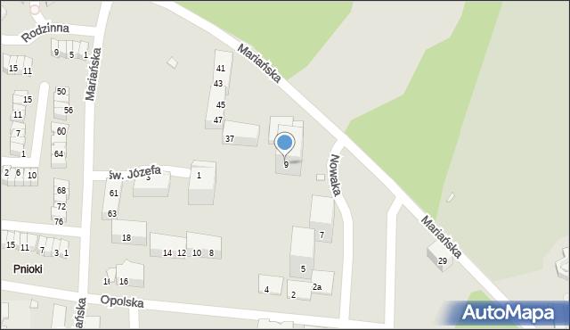 Chorzów, Nowaka Ignacego, 9, mapa Chorzów