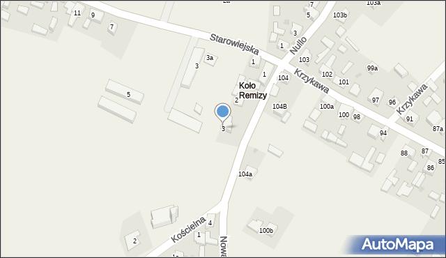 Krzykawka, Nowa, 3, mapa Krzykawka