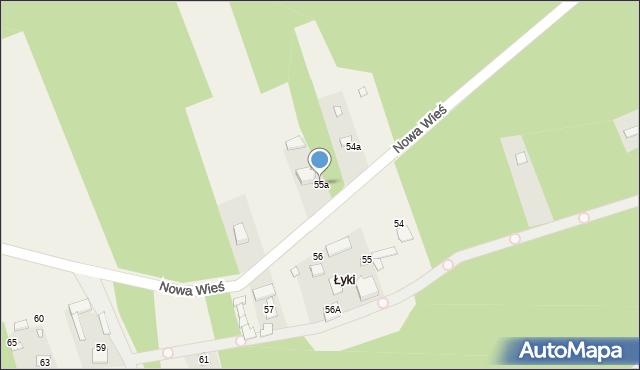 Nowa Wieś, Nowa Wieś, 55a, mapa Nowa Wieś