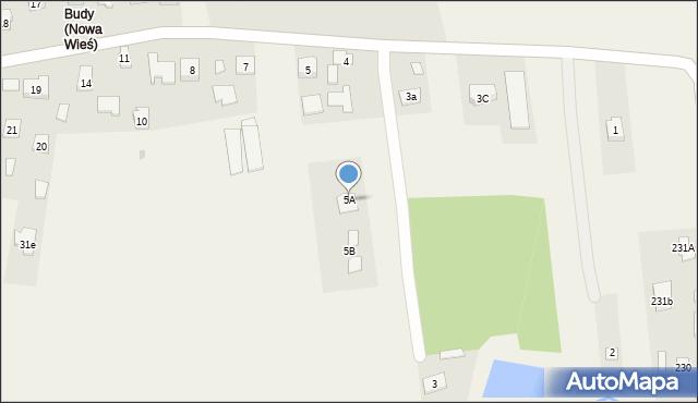 Nowa Wieś, Nowa Wieś, 5a, mapa Nowa Wieś