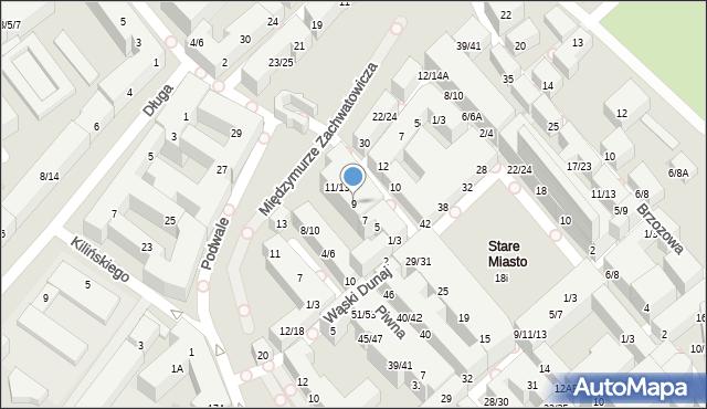 Warszawa, Nowomiejska, 9, mapa Warszawy
