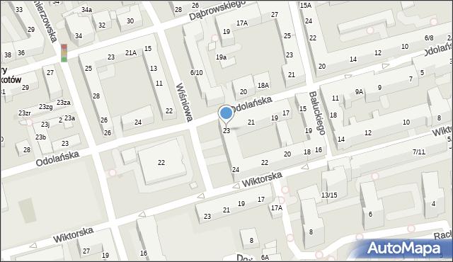 Warszawa, Odolańska, 23, mapa Warszawy
