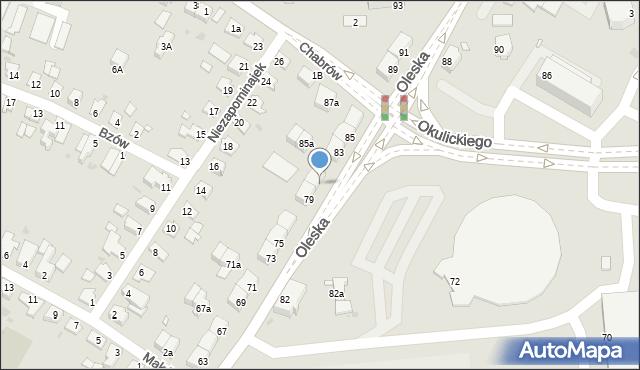 Opole, Oleska, 81, mapa Opola