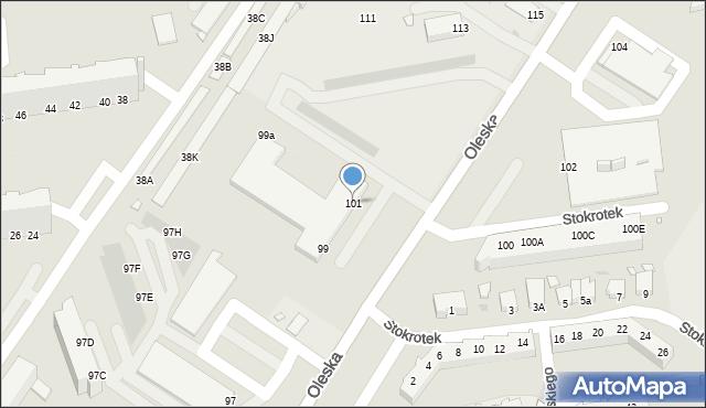 Opole, Oleska, 101, mapa Opola