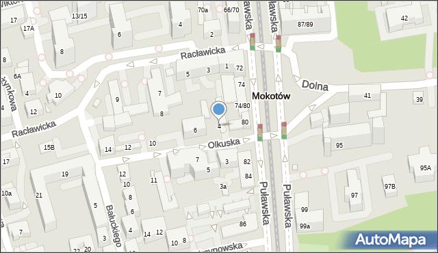 Warszawa, Olkuska, 4, mapa Warszawy
