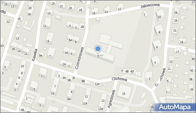 Zabrze, Olchowa, 2, mapa Zabrza