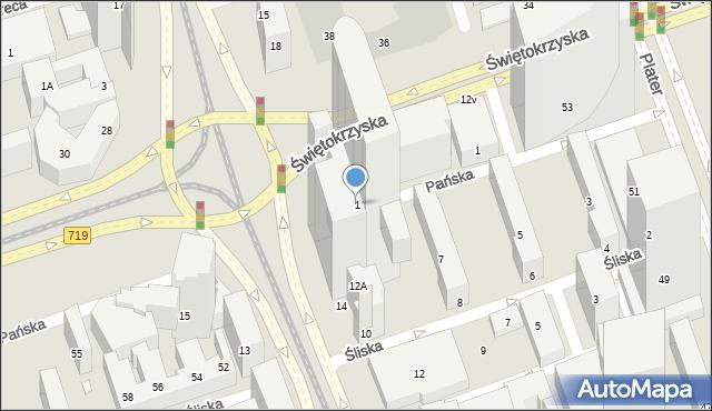 Warszawa, ONZ, 1, mapa Warszawy