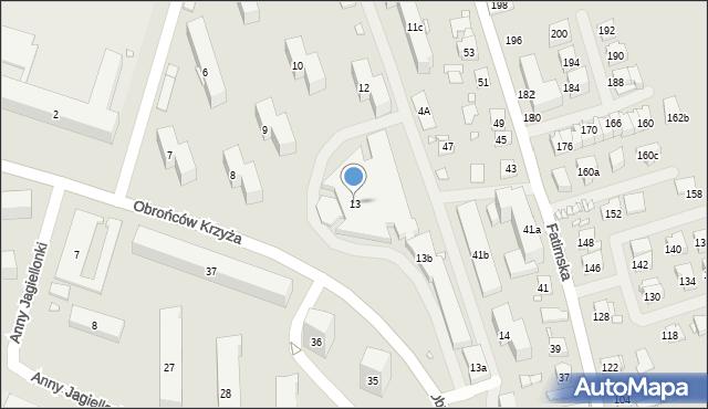 Kraków, Osiedle Złotej Jesieni, 13, mapa Krakowa