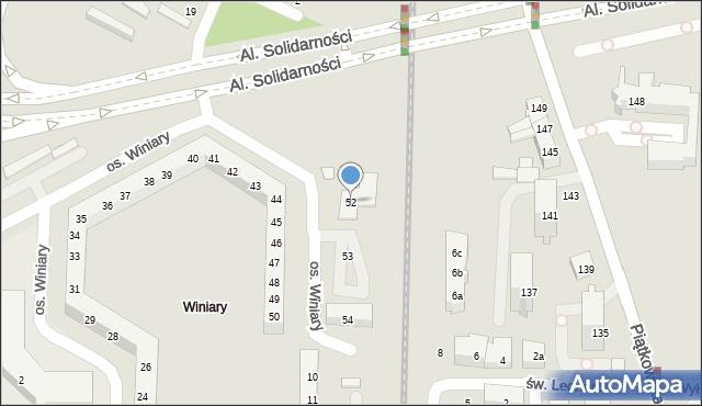 Poznań, Osiedle Winiary, 52, mapa Poznania
