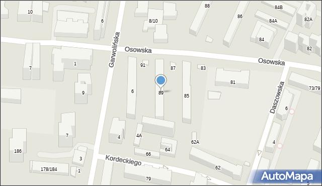 Warszawa, Osowska, 89, mapa Warszawy