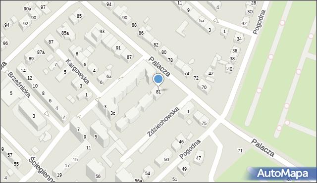 Poznań, Palacza Macieja, 81, mapa Poznania