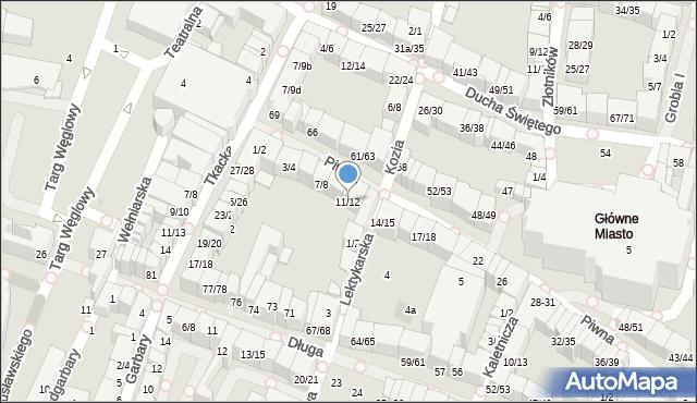 Gdańsk, Piwna, 1/2, mapa Gdańska
