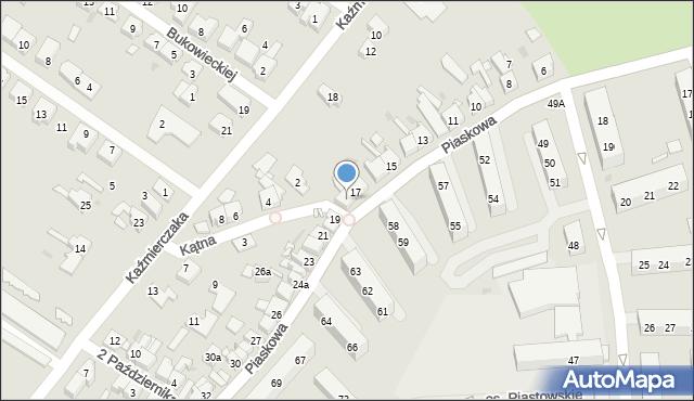 Kościan, Piaskowa, 18, mapa Kościan