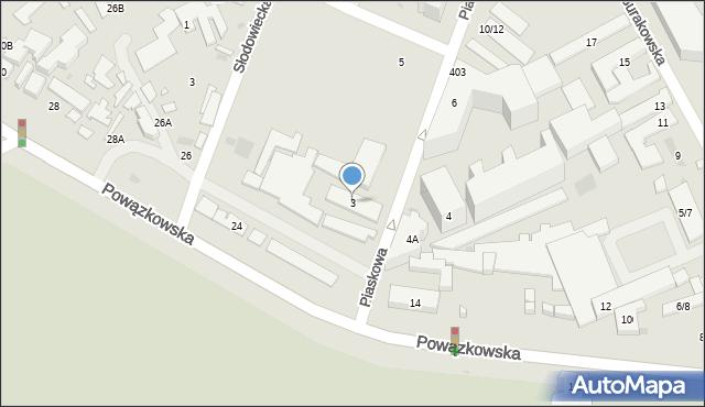 Warszawa, Piaskowa, 3, mapa Warszawy