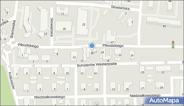 Zawiercie, Piłsudskiego Józefa, 16, mapa Zawiercie