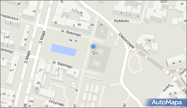 Szczecin, Plac Stefana Batorego, 4, mapa Szczecina