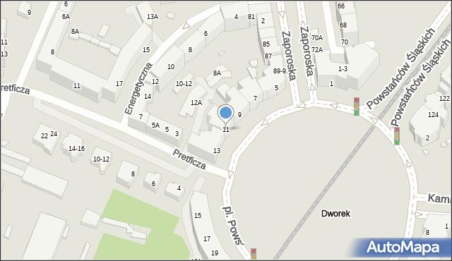 Wrocław, Plac Powstańców Śląskich, 11, mapa Wrocławia