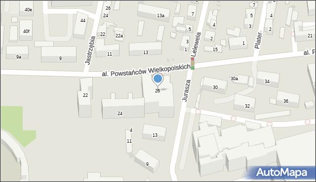 Bydgoszcz, Powstańców Wielkopolskich, al., 26, mapa Bydgoszczy