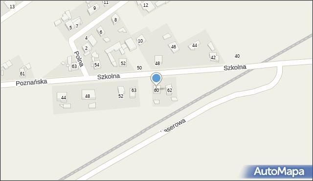 Dopiewo, Poznańska, 60, mapa Dopiewo