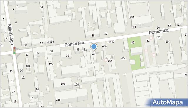 Łódź, Pomorska, 43, mapa Łodzi
