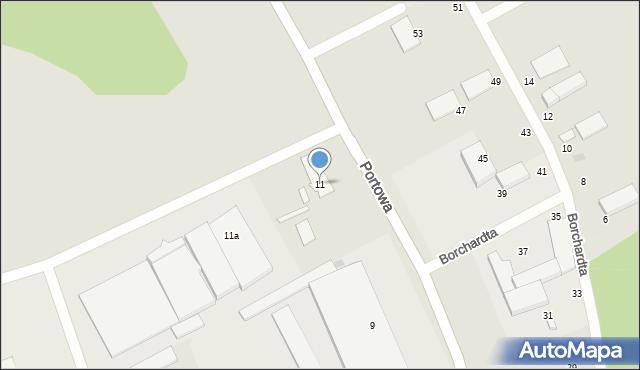 Słupsk, Portowa, 11, mapa Słupska