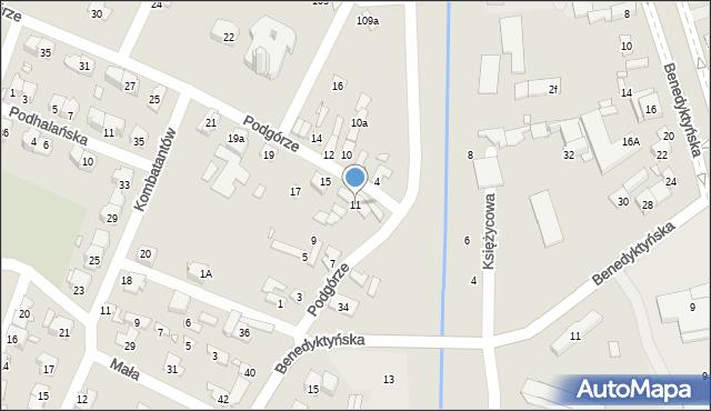 Starachowice, Podgórze, 11, mapa Starachowic